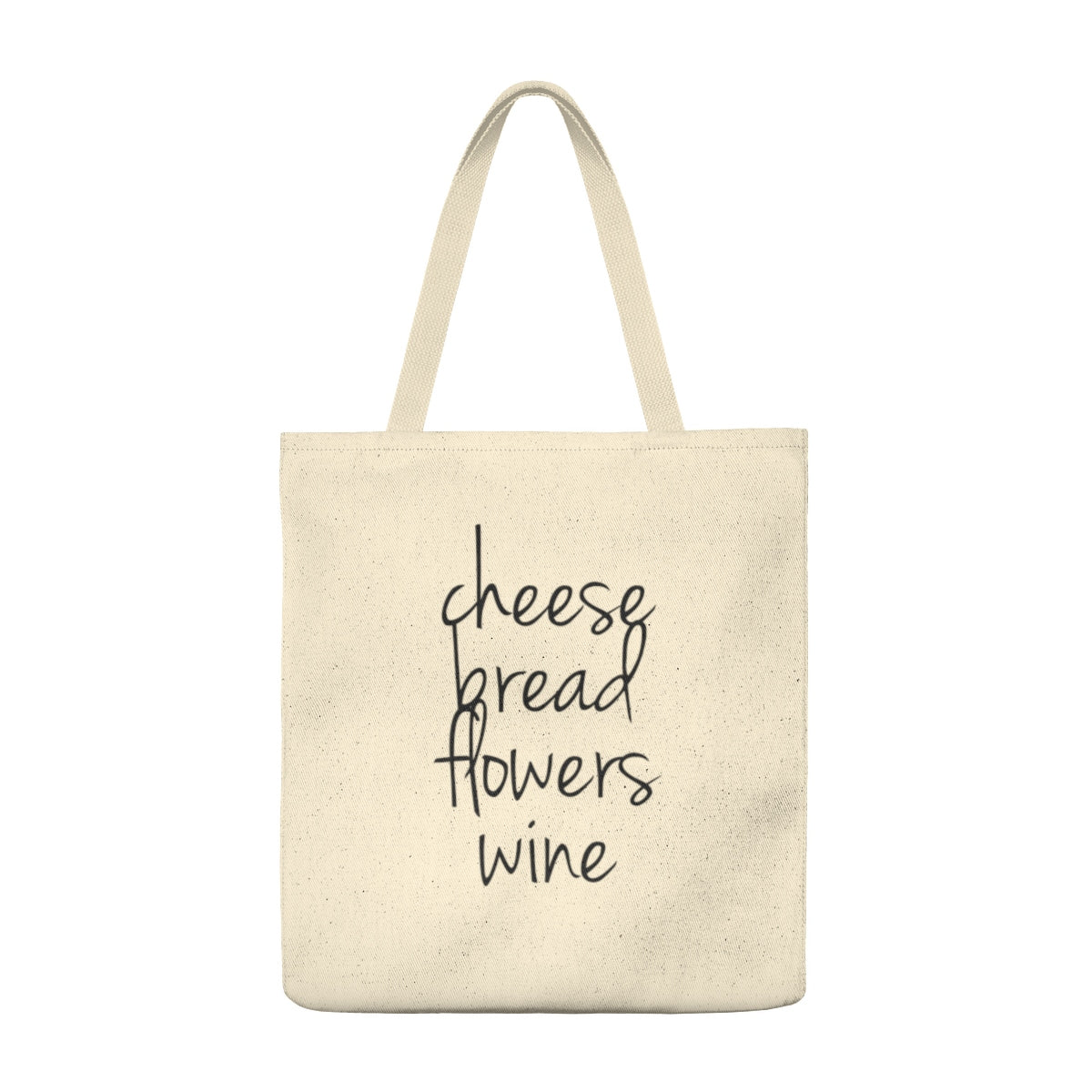 Cheese, Bread, Flowers, Wine Tote