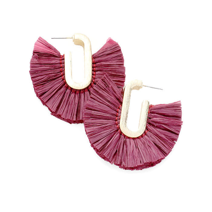 Elle Earring Oxblood