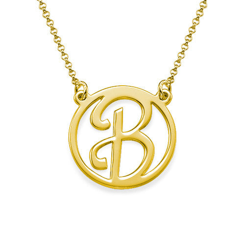 Cursive Initial Necklace gold
