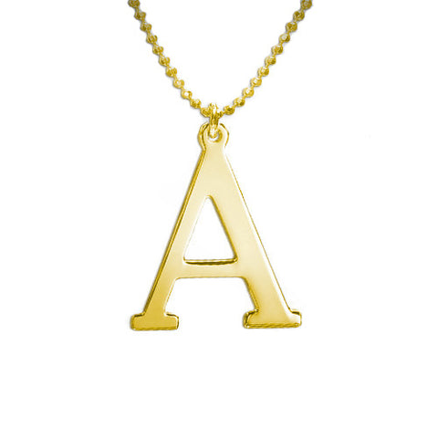 Initial Necklace gold