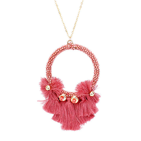 Gwen Necklace Deep Rose