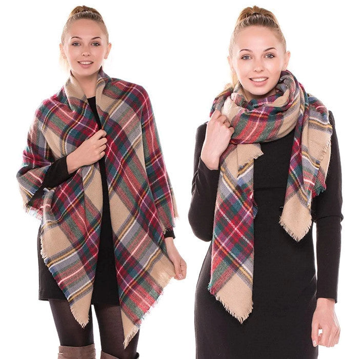 Classic Blanket Scarf Camel alternate
