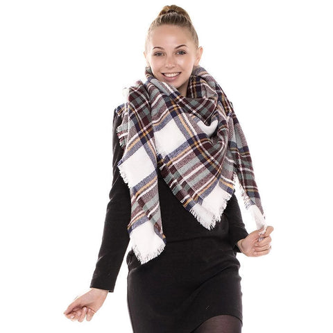 Classic Blanket Scarf White