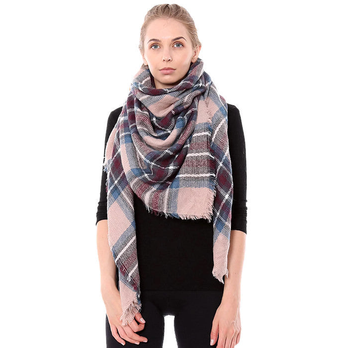 Classic Blanket Scarf Pink