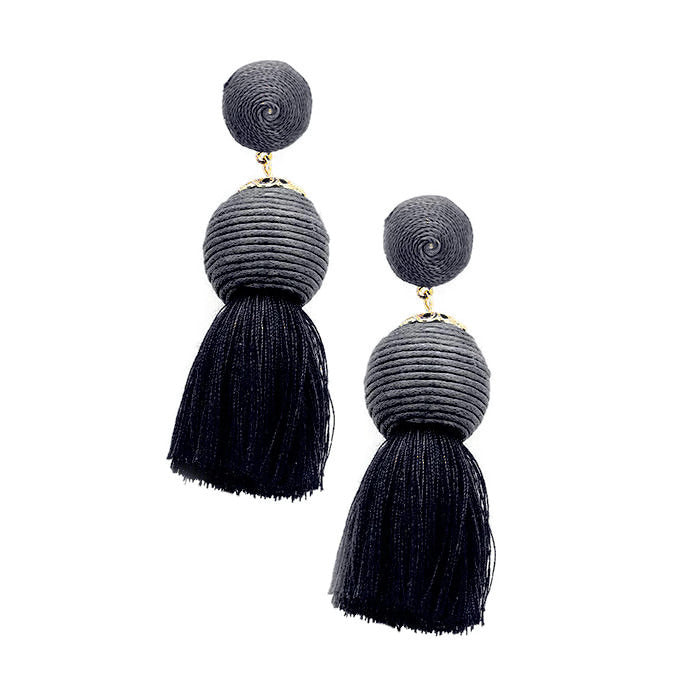Farrah Earring Black