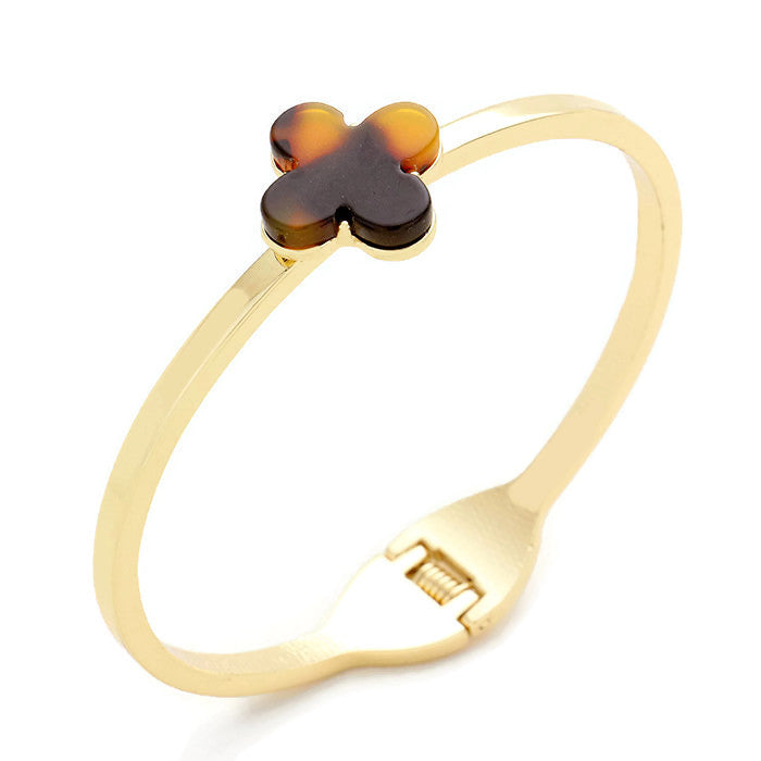 Quatrefoil Bangle Tortoise