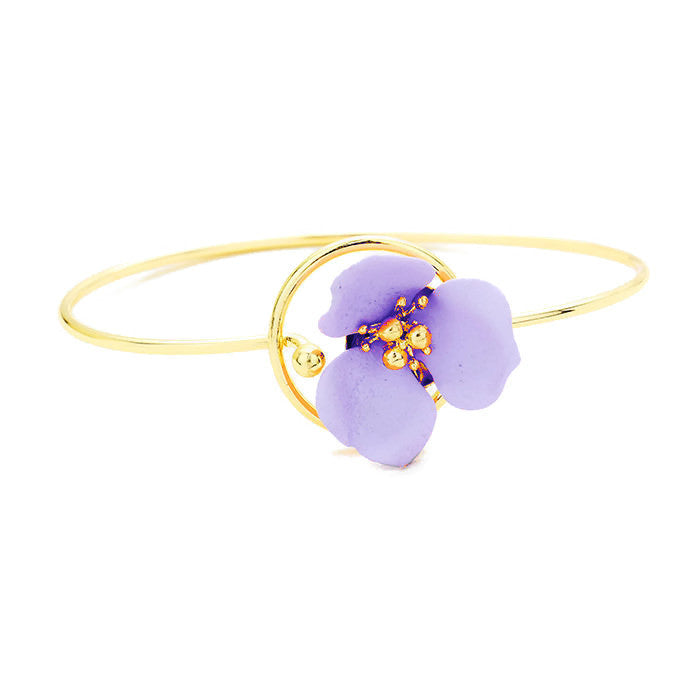 Petals Bangle Lavender