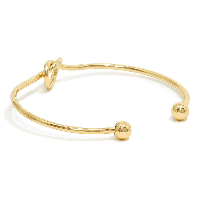 Friendship Knot Cuff Gold