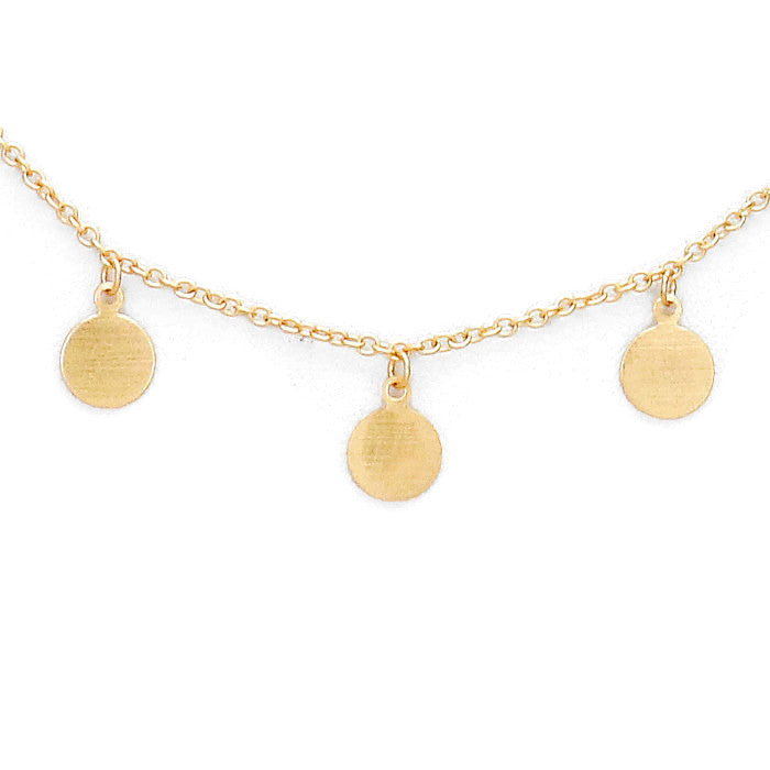 Paige Necklace Matte Gold