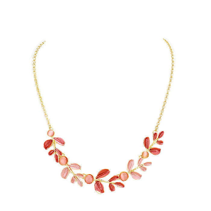 Bea Necklace Deep Pink