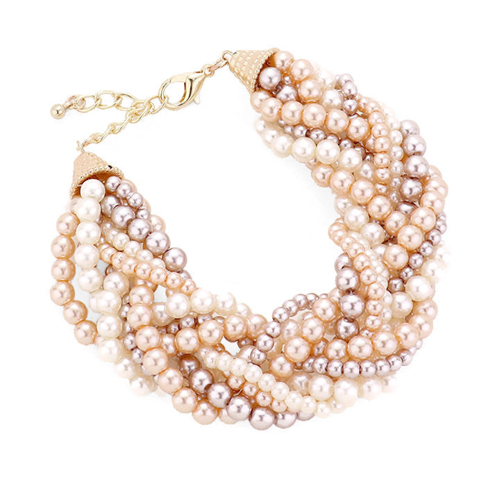 Braided Pearl Bracelet Natural