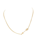 Sideways Arrow Necklace Worn Gold