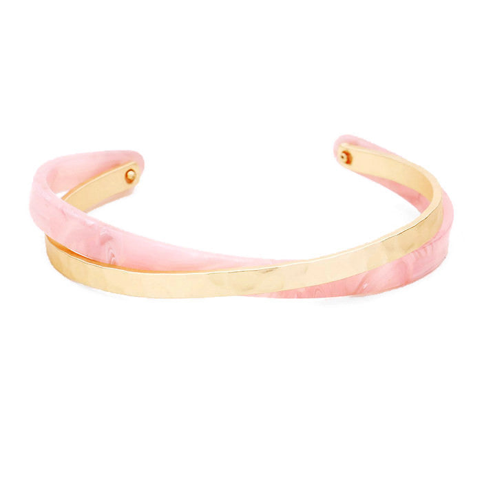 Celluloid Criss Cross Cuff Blush