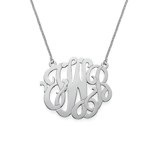 Modern Monogram Necklace silver
