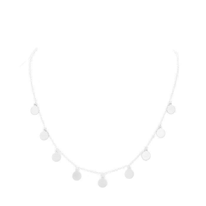 Paige Necklace Matte Silver