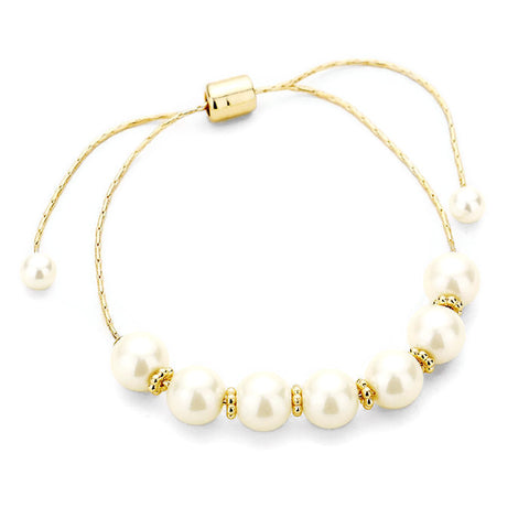 Pearl Cinch Bracelet Gold