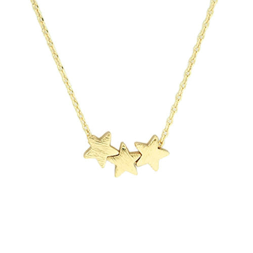 Star Trio Necklace Gold