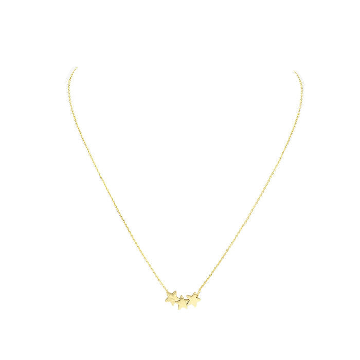 Star Trio Necklace Gold alt
