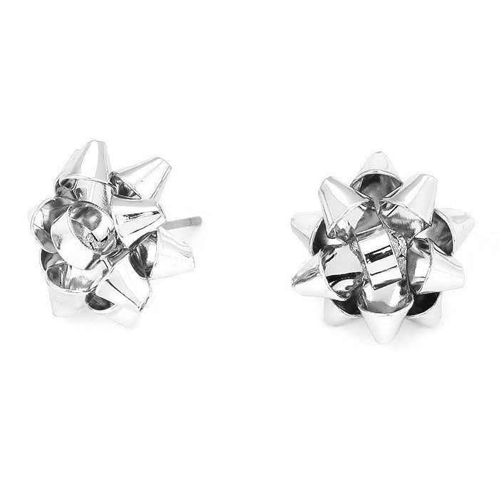Sweet Bow Stud Rhodium