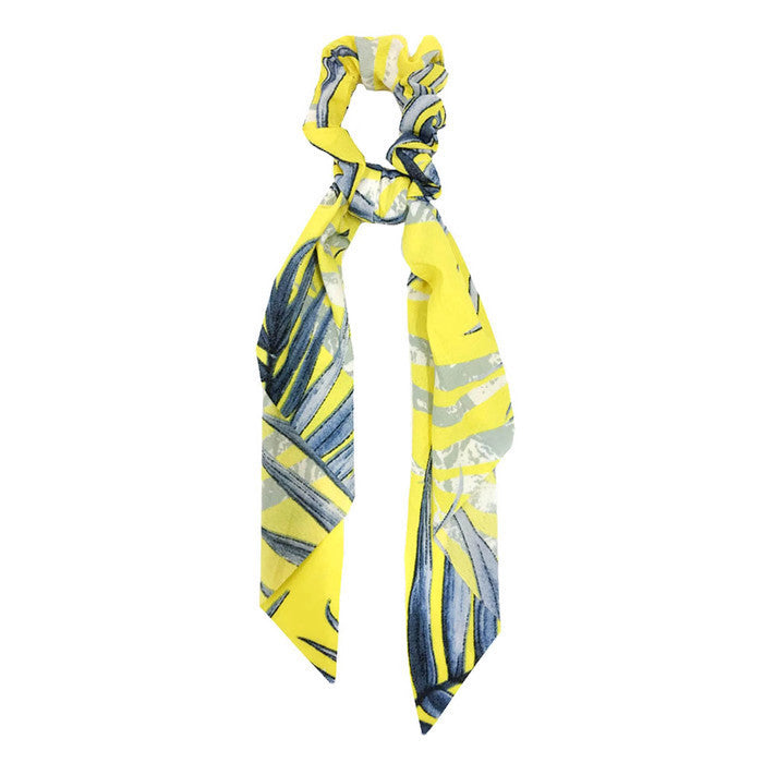 Hair Scarf Scrunchie Yellow