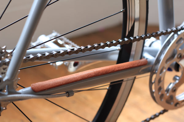 leather bike chainstay protector temple cycles