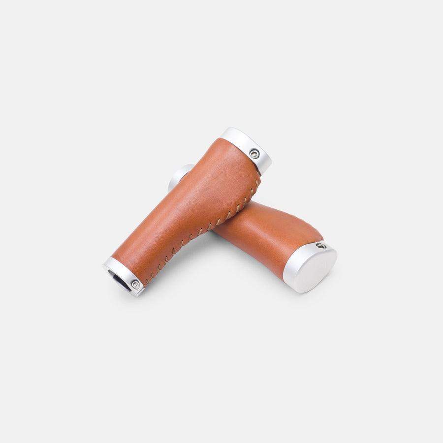 Temple Ergonomic Leather Grips - Light Brown