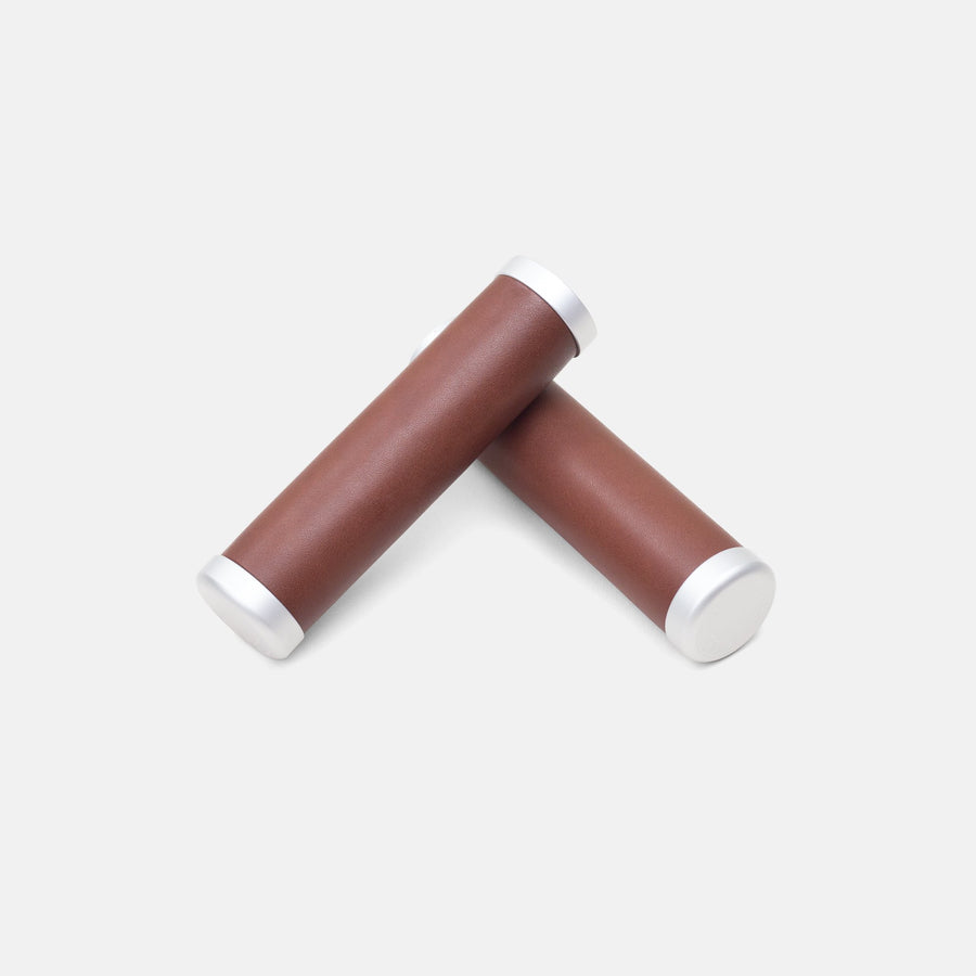 Temple Premium Leather Grips - Dark Brown