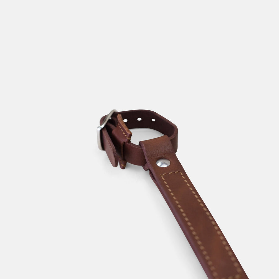 Temple Leather Carry Handle - Dark Brown