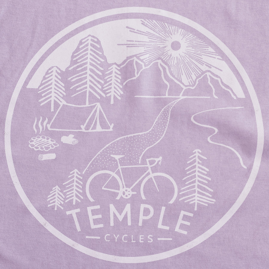 Temple Under the Sun Tee - Lilac