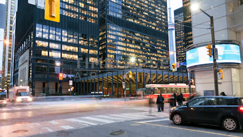 Time-lapse Toronto: Bay & King Rush Hour