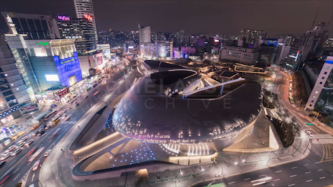 Time-lapse Seoul: Dongdaemun Cultural Park (Wide)
