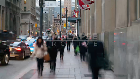 Time-lapse Toronto: Bay Street Rush Hour