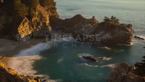 Time-lapse Big Sur: McWay Falls Sunset