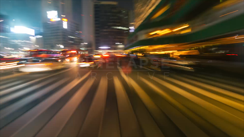 Time-lapse Seoul: City Centre Heading South Night