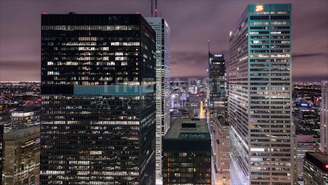 Time-lapse Toronto: Banking Towers At Night