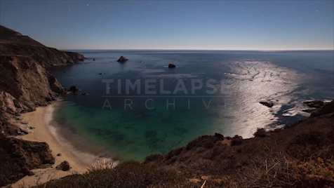 Time-lapse Big Sur: Bixby Creek Moonscape