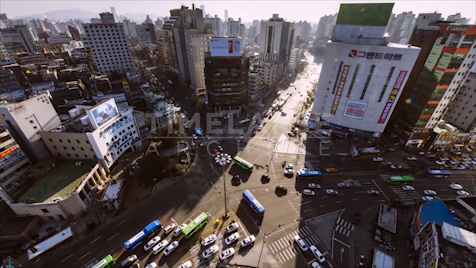 Time-lapse Seoul: Sinchon Station From Above