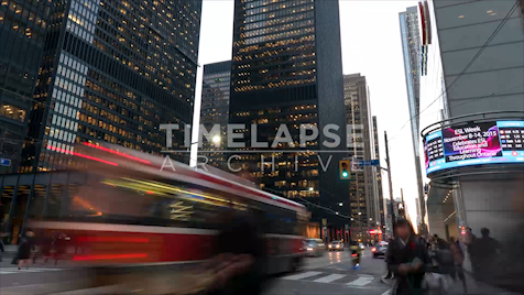Time-lapse Toronto: Bay & King Rush Hour 2