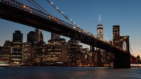 Time-lapse New York: Brooklyn Bridge Skyline Day To Night