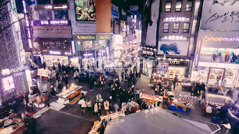Time-lapse Seoul: Myeong-dong M Plaza