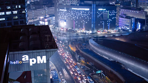 Time-lapse Seoul: Dongdaemun Overlooking Hello apM