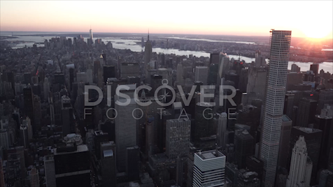 New York: Aerial Sunset Wide 10
