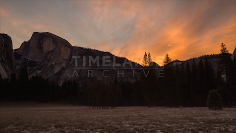 Time-Lapse Yosemite: Half Dome Sunrise