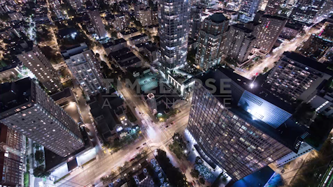 Time-lapse Vancouver: Nelson & Burrard At Night