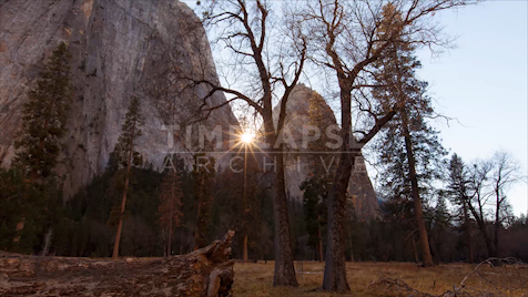 Time-lapse Yosemite: Cathedral Rock Sunburst
