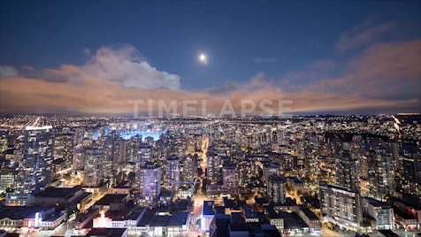 Time-lapse Vancouver: Skyline At Night