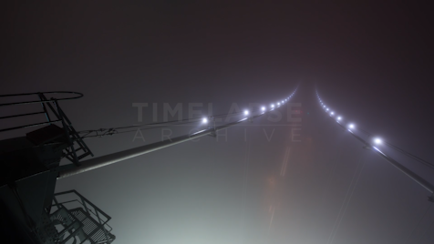 Time-lapse Vancouver: Lions Gate Bridge Fog