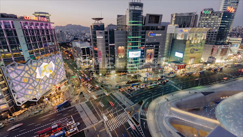 Time-lapse Seoul: Dongdaemun Intersection Dusk