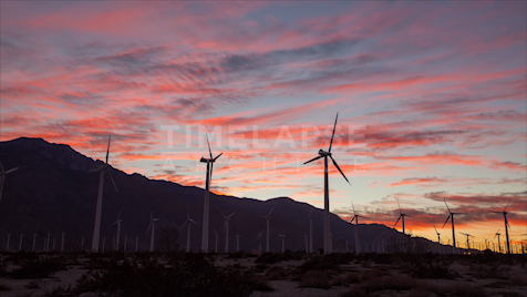 Time-lapse Palm Springs: Wind Farm Sunset