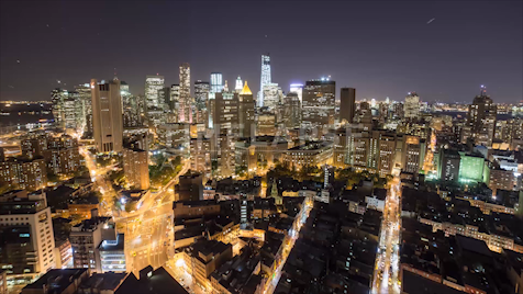 Time-lapse New York: Financial District From Chinatown